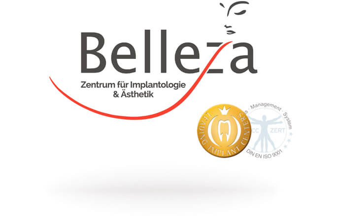 Das Logo des Belleza-Zentrums in Berlin.