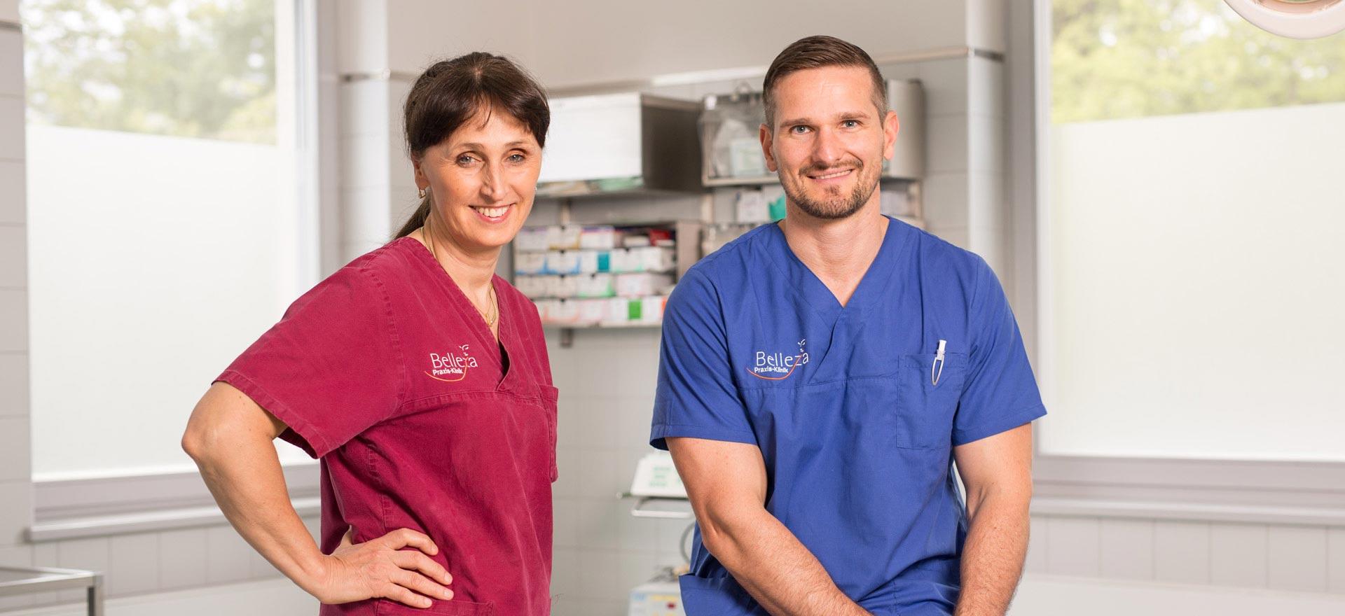 Dr. Dr. Irina Brzenska M.Sc. und Tobias Dieke sind Experten für Zahnimplantate aus Berlin.